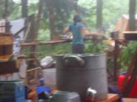 Küche im Regen